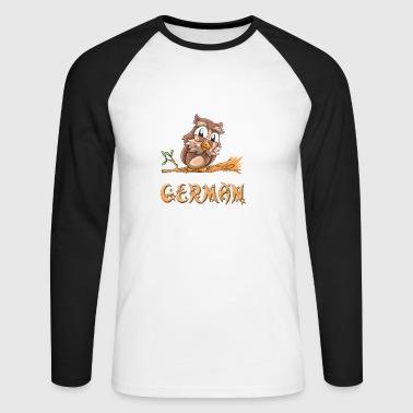 Owl tedesco - Maglia da baseball a manica lunga da uomo