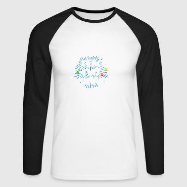 Mignon J'enseigne les humains minuscules enseignant de la maternelle - T-shirt baseball manches longues Homme