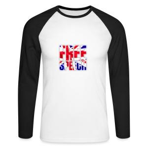 Free Speech UK Alt.1 - Men's Long Sleeve Baseball T-Shirt