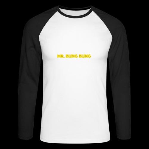 bling bling - Männer Baseballshirt langarm