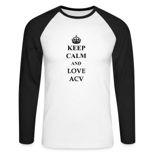 Keep Calm and Love ACV - Männer Baseballshirt langarm