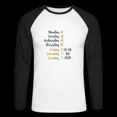 weekend - Koszulka męska bejsbolowa z długim rękawem