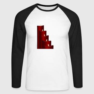 Advent candles - Men's Long Sleeve Baseball T-Shirt
