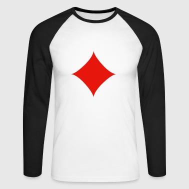 Karo Kartensymbol. Geschenkidee - Männer Baseballshirt langarm
