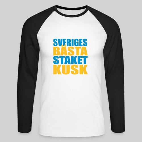 Sveriges bästa staketkusk! - Långärmad basebolltröja herr