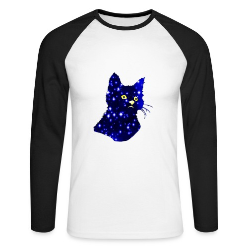 Galactic Cat - T-shirt baseball manches longues Homme