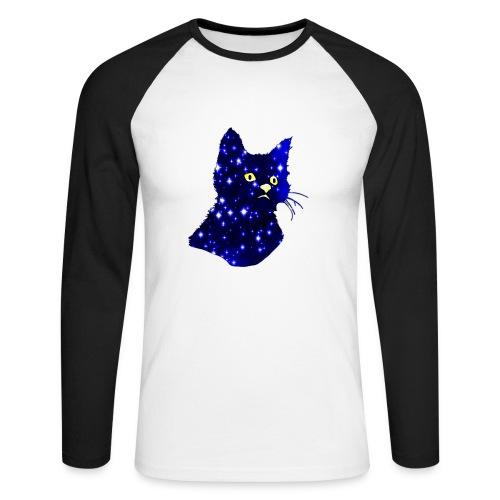 Galactic Cat - T-shirt baseball manches longues Homme