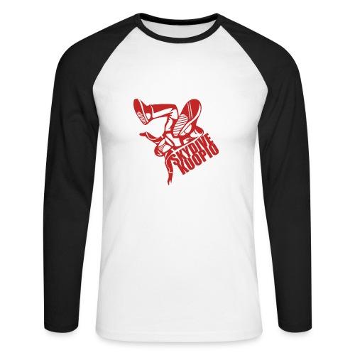 KLU logo red - Miesten pitkähihainen baseballpaita