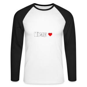 I love Flierp - Mannen baseballshirt lange mouw