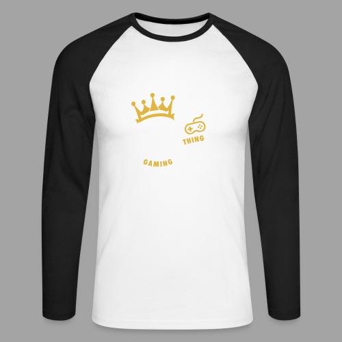That King Thing Logo - Men's Long Sleeve Baseball T-Shirt