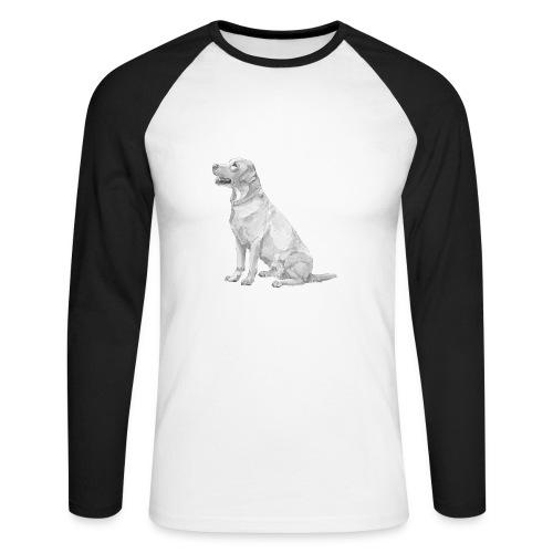 labrador Retriever Gul - Langærmet herre-baseballshirt