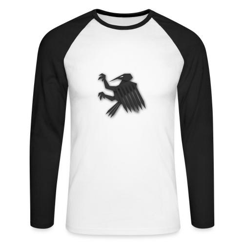 Nörthstat Group ™ Black Alaeagle - Men's Long Sleeve Baseball T-Shirt