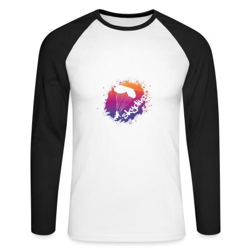 Skydive Watercolor - Männer Baseballshirt langarm