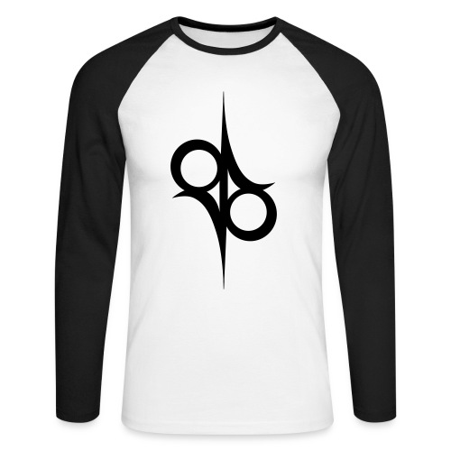 Solar Guitars Symbol Black - Men's Long Sleeve Baseball T-Shirt