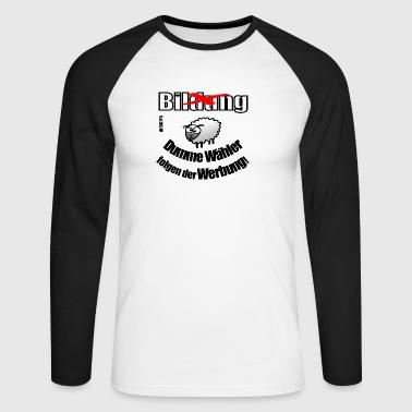 moutons choix sans éducation - T-shirt baseball manches longues Homme