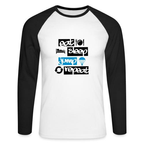 Eat Sleep Jump Repeat - Männer Baseballshirt langarm