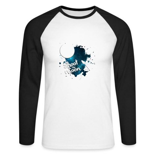 Shoot for the Moon Galaxy Edition - Men's Long Sleeve Baseball T-Shirt