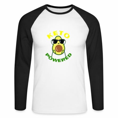 Keto powered - Keto Low Carb T-Shirt - Männer Baseballshirt langarm