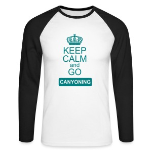 keep calm and go canyoning 2 - Männer Baseballshirt langarm