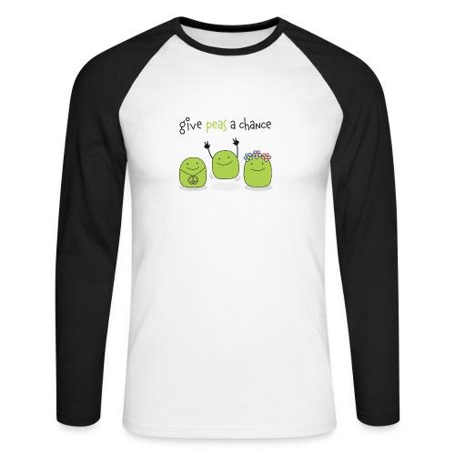 Give peas a chance! - Männer Baseballshirt langarm