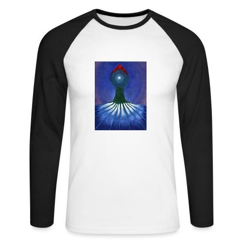 Drzewo Samotne - Koszulka męska bejsbolowa z długim rękawem