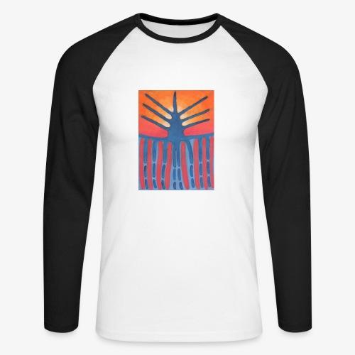 drzewo prehistoryczne 1 - Koszulka męska bejsbolowa z długim rękawem