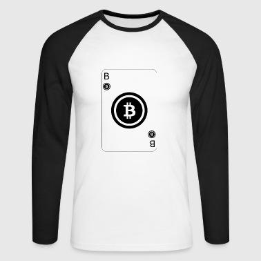Bitcoin Playcard Spielkarte - Männer Baseballshirt langarm