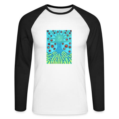 Drzewo I Planety - Koszulka męska bejsbolowa z długim rękawem