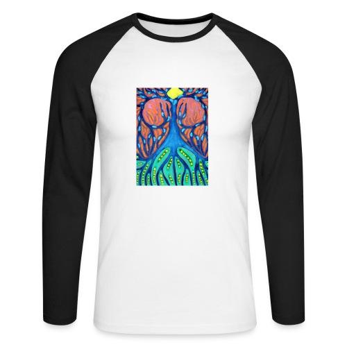 Drapieżne Drzewo - Koszulka męska bejsbolowa z długim rękawem