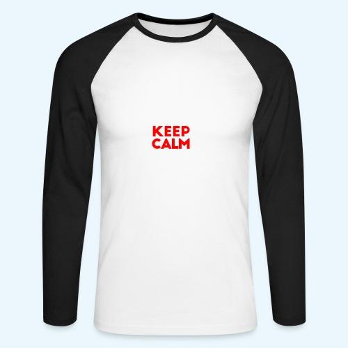I Can't Keep Calm (alleen voor pappie!) - Mannen baseballshirt lange mouw