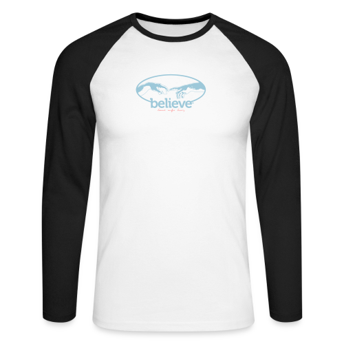 Believe - Männer Baseballshirt langarm