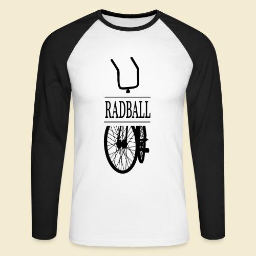 Radball | Retro Black - Männer Baseballshirt langarm