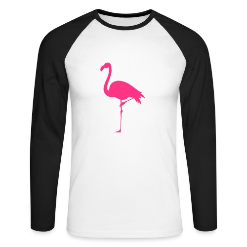 Freaking Flamingo - Långärmad basebolltröja herr