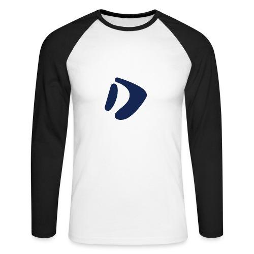 Logo D Blue DomesSport - Männer Baseballshirt langarm