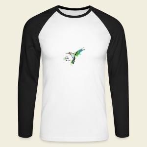 KOLIBRI im Taubenschwarm - Männer Baseballshirt langarm