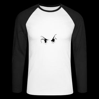 zły - Koszulka męska bejsbolowa z długim rękawem