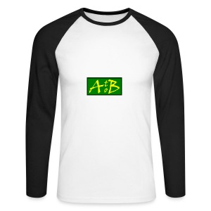 AtoB Logo green / yellow - Men's Long Sleeve Baseball T-Shirt