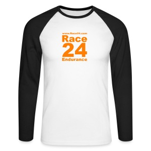 Race24 Logo in Orange - Men's Long Sleeve Baseball T-Shirt