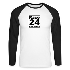 Race24 logo in black - Men's Long Sleeve Baseball T-Shirt
