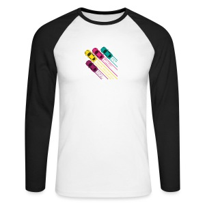 nitro Driving - Men's Long Sleeve Baseball T-Shirt
