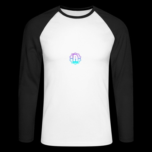 'A' Design Blue Edition - Men's Long Sleeve Baseball T-Shirt