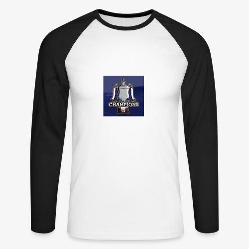 MFC Champions 2017/18 - Men's Long Sleeve Baseball T-Shirt