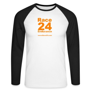 Race24 Large Logo - Men's Long Sleeve Baseball T-Shirt