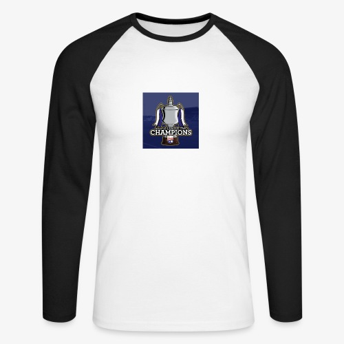 MFC Champions 2017/18 - Men's Long Sleeve Baseball T-Shirt