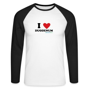 I love duodenum! - Langermet baseball-skjorte for menn