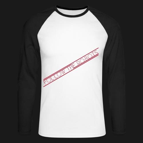 Follow the C8H10N4O2 Container - Männer Baseballshirt langarm
