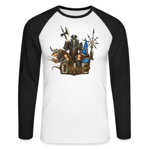 THE logo - Evil Characters - Men's Long Sleeve Baseball T-Shirt