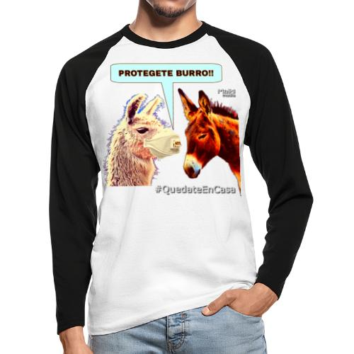 PROTEGETE BURRO - T-shirt baseball manches longues Homme