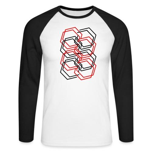 Rautenmuster - Männer Baseballshirt langarm