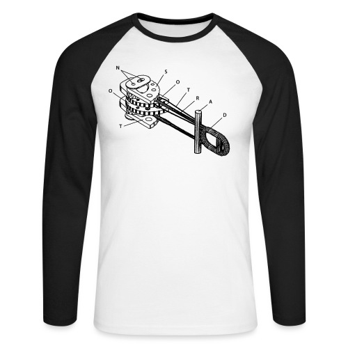 N_NST_CamLogo_BlackOnly - Men's Long Sleeve Baseball T-Shirt